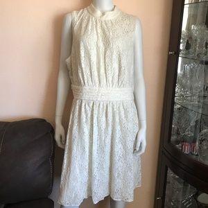 NWOT Modcloth Off White Lace Mini Dress Lined 2X